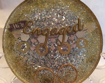Engagement coaster or paperweight