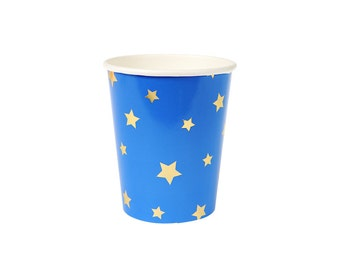 Jazzy Star Paper Cups Assorted, Meri Meri Party Decor, Party Supplies, Tableware, Summer Party Theme