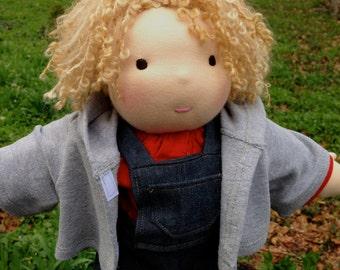 Custom Waldorf Doll 15 - 16 inch Boy Waldorf Inspired Doll