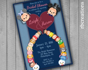 Tsum Tsum Bridal Shower Invitations, Tsum Tsum Party, Tsum Tsum Invitation, Tsum Tsum Printable - Digital Printables