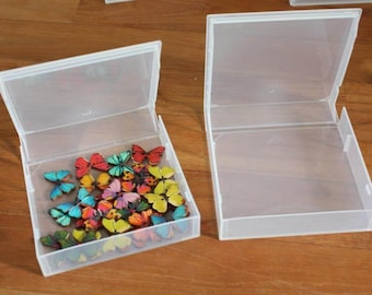 20 Pcs Plastic Clear Transparent Storage & Organization Box Collection Case 11 x 11.5 cm