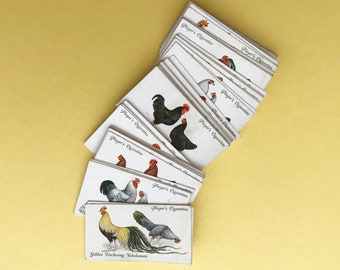 Vintage Poultry beautifully illustrated cigarette cards. Original full set of 50 cards. John Player & Sons cards circa 1930s.