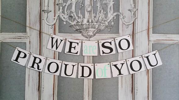 graduation signs congrats banners commencement rustic