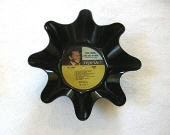 Frank Sinatra Record Bowl Made From Repurposed Vinyl Album
