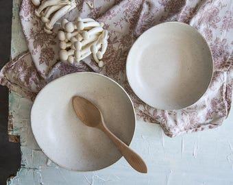 Ceramic Bowls set, Ceramic Serving Bowls ,White stoneware nesting bowls, Mixing Bowls, White Salad Bowls, White Pottery Bowls, Holiday Gift