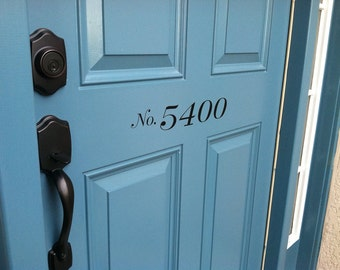 Vinyl House Numbers- Multiple Font Choices!