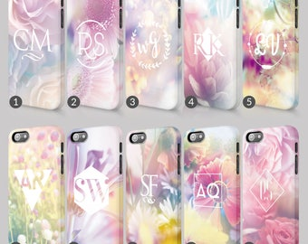 Floral Gradient Pastel Colours Flower Flowers Print Phone Case For Iphone & Samsung 3D Full Wrap Hard Cover Gift