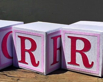 Alphabet Blocks - Baby Shower - Baby Blocks - Nursery Decor - Blocks - Baby Decor - Alphabet - Letter Blocks - ABC Blocks - Custom Blocks