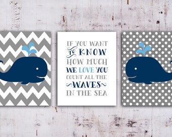 Whale Nursery art print  nautical decor, Whale Nursery Printable in Navy Blue and Gray,Set of 3, if you want to know how