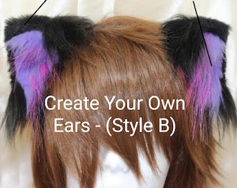 Create Your Own Kitten Ears - Kitty Ears Cosplay Anime Pet Play Furry Neko Kawaii cat ears neko ears kittenplay bdsm petplay costume