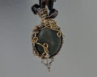 amulet necklace, grounding stone, native american jewelry
