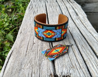 Shawano Pattern Metal Cuff Bracelet - 1 available to ship now