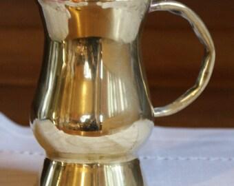 Victorian Antique Brass Tankard, Half Pint Drinking Vessel, Mug, Handmade