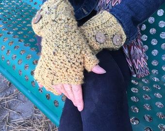 Crochet Fingerless Mittens-Fingerless Gloves-Wrist Warmers-Texting Mittens- Texting Gloves-