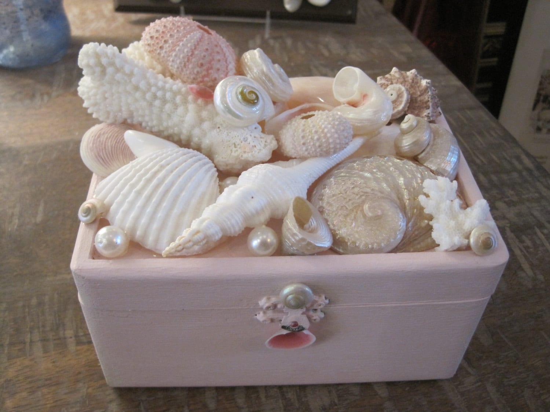 Beach Decor Seashell Jewelry Box Jewelry Box Shell Jewelry