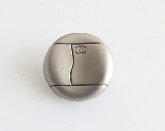 Authentic Chanel Button -Silver