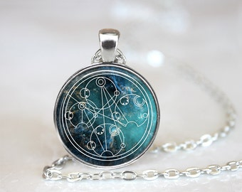 Doctor Who, Wibbly Wobbly Timey Wimey in Gallifreyan, Custome Necklace