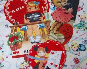 three repurpose valentine paper ephemera