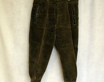 Vintage Waist 32 Inseam 31 Small S West German Olive Drab Green Hunting Military Pants with L.L. Bean Tab Suspenders Niemann & Co gvFJ6