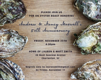 Oyster Roast Invitation – Custom, Printable or Printed