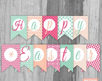 Happy Easter Banner Printable Instant Download