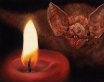 Candle Lit Dinner-Canvas print