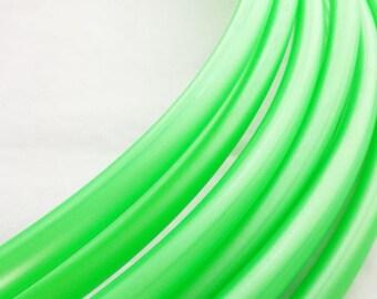 Metallic Bright Green 3/4 HDPE Hula Hoop// Customizable// Light Weight//Trick Hoop//Dance Hoop