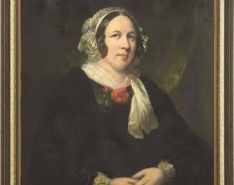 Antique Oil Painting | Oil Portrait | 19th Century Portrait | 1820 | B730
