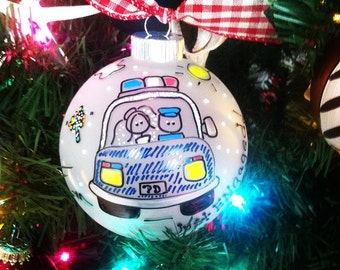 Our First Christmas as Mr. & Mrs. POLICEMAN Ornament Personalized Police Officer