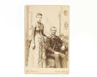 Antique Photo, Vintage Photograph, 1800s Photo, Cabinet Card, Family Photo, Gift Idea, Ephemera, Paper, Picture, Wall Decor Wealthy Parents