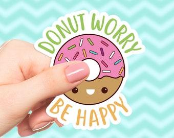 Cute Donut Bumper Sticker Cute Sticker for Laptop Funny Doughnut Sticker Funny Gift Vinyl Sticker Cute Stickers For her