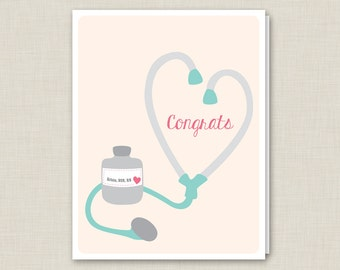 Personalized Nursing Graduation Card