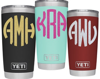 Yeti monogram decal, yeti decal for woman, decals for yeti, decals for yeti cups, yeti decal, yeti cup decal, yeti sticker
