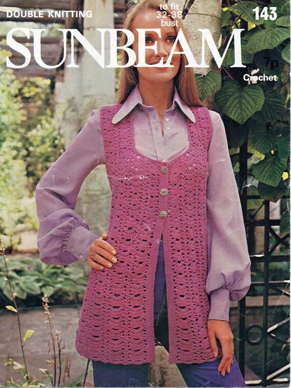 womens crochet waistcoat crochet pattern lacy crochet coat