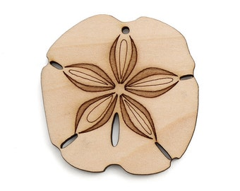 Sand Dollar Ornament - Made in the USA with sustainably harvested wood! - Timber Green Woods.