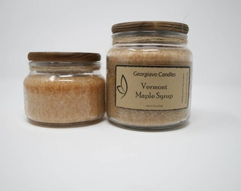 Vermont Maple Syrup Country Jar Candle | 10 oz or 16 oz | Scented Candles, Georgiavo Candles Country Jar