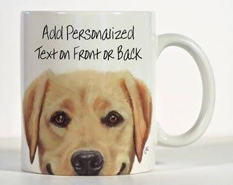 Labrador Retriever, Yellow Lab Mug, Personalized Yellow Lab Gift, Smiling Lab