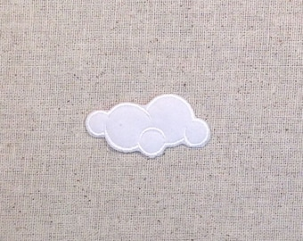 White Cloud - Nature - Iron on Applique - Embroidered Patch - 695425A