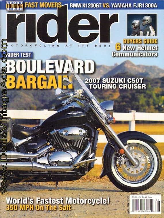 2007 January Rider Motorcycle Magazine Back-Issue #0701rdr