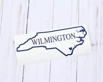 State Decal, State Stickers, Home State Decal, North Carolina Decal, North Carolina Sticker, Wilmington NC, North Carolina Car Decal
