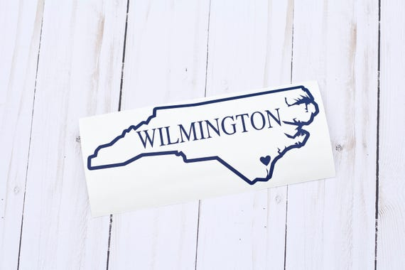 State decal state stickers home state decal north carolina decal north carolina sticker wilmington nc north carolina car decal