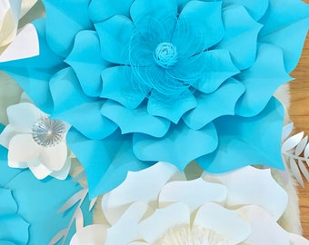 HARD COPY Template 12 Large Paper Flower