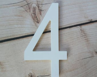4 Sign Photo Prop for  Birthday Photo Shoot for Babies and Kids - Wooden Number Sign Photographer, Number Sign