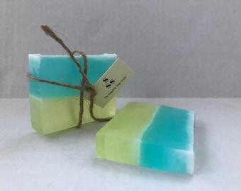 4 oz Lemon Rain Homemade Soap- NO HANDLING FEE