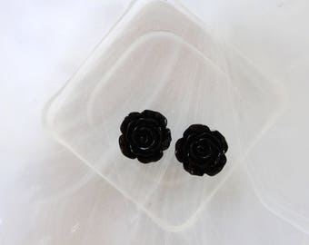 small pink flower cabochon black scrapbooking