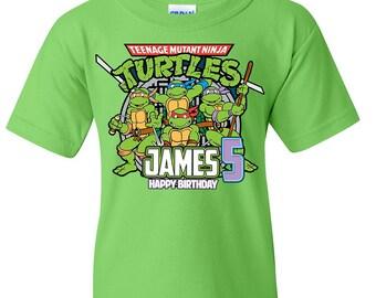 SAVE 10% on Teenage Mutant Ninja Turtles Birthday Shirts, TMNT birthday, Turtles, Birthday Shirts, Family Shirts, TMNT Family shirts,