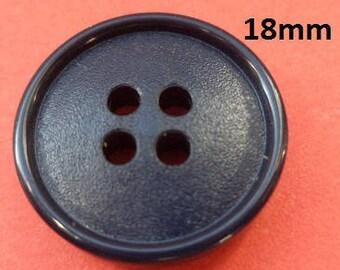 13 dark Blue Knobs 18 mm (42) Blue