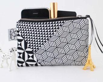 Zipper pouch or coin purse with an original ANJESY design