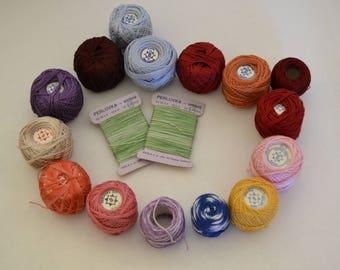 Vintage Czechoslovakian yarns, cotton threads