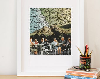 Art print Collage Art, When we are older A5 A4 A3 A2 Wall Art. Collage Print. Large Wall Art. Geodesic.